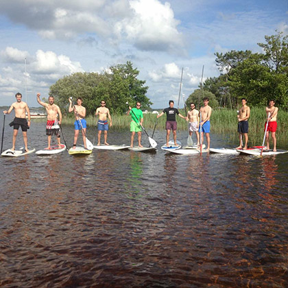 Stand Up Paddle en groupe à Lacanau sur le lac