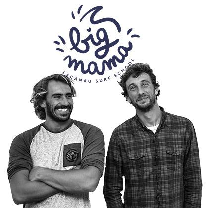 adrien et romain de big mama surfschool lacanau